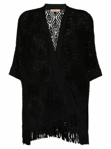 Twin-Set longline crochet cardigan - Black