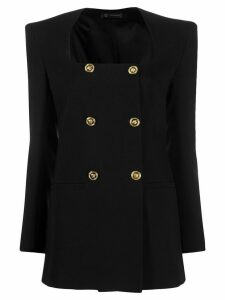 Versace double-breasted structured blazer - Black