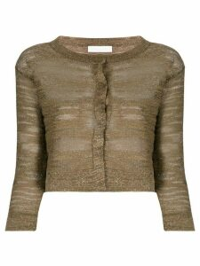 Fabiana Filippi metallic burnout cardigan - GOLD