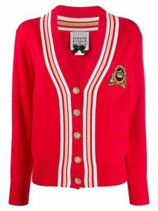 Edward Achour Paris sequin embellished knit cardigan - Red