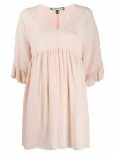 Fisico silk flared mini dress - PINK