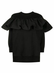 Valentino ruffle detail sweatshirt - Black