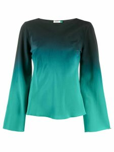 Rixo gradient effect blouse - Green