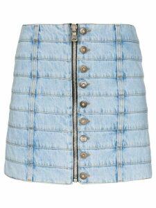 Faith Connexion panelled denim mini skirt - Blue