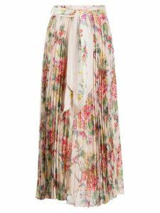 Zimmermann floral print maxi skirt - NEUTRALS