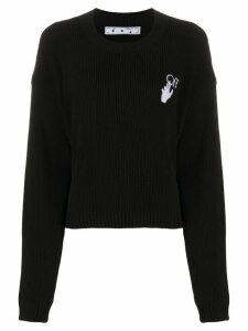 Off-White New Logos knitted jumper - Black