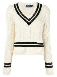 Polo Ralph Lauren V-Neck Cricket jumper - White