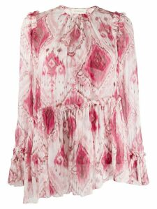 Zimmermann Wavelength abstract-print blouse - PINK
