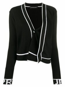 Y/Project asymmetric ribbed knit cardigan - Black