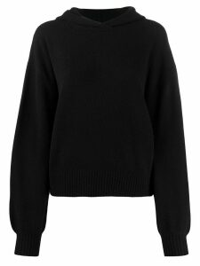 Pringle of Scotland hooded long-sleeve jumper - Black