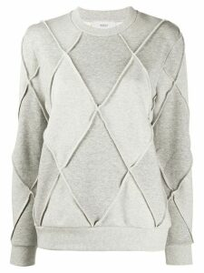 Pringle of Scotland argyle long-sleeve jumper - Grey