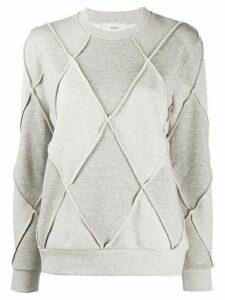 Pringle of Scotland argyle long-sleeve jumper - Grey