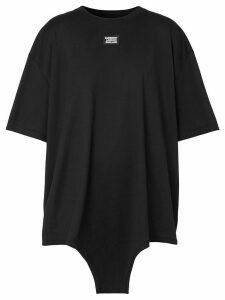 Burberry cut-out hem logo appliqué T-shirt - Black