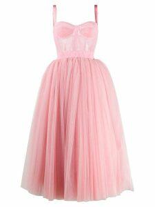 Dolce & Gabbana tulle midi dress - PINK