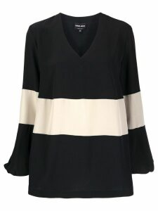 Giorgio Armani colour-block blouse - Blue