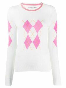 Ermanno Scervino Argyle knit jumper - White