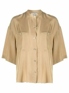 Vince patch pocket blouse - NEUTRALS