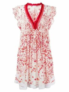 Poupette St Barth printed tunic dress - White