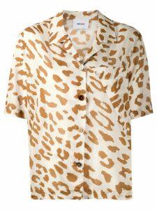 Nanushka leopard print shirt - Brown