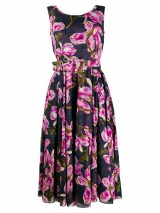 Samantha Sung floral print flared dress - Blue