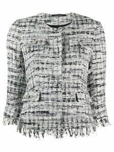 Tagliatore Meg tweed jacket - White