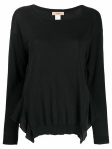 Twin-Set ruffle hem jumper - Black