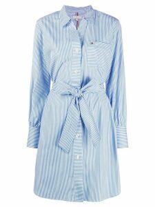 Tommy Hilfiger stripe print shirt dress - Blue