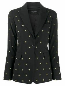 Frankie Morello single-breasted stud-embellished blazer - Black
