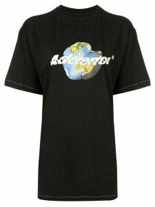 Ader Error Earth print T-shirt - Black
