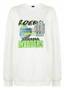 Ader Error Invaders sweatshirt - White