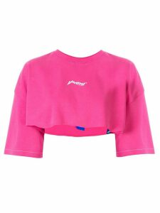 Ader Error cropped fit T-shirt - PINK
