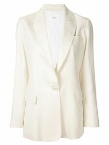 Casasola fitted single breasted blazer - White
