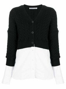 Alexander Wang layered cable-knit cardigan - Black