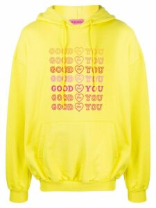IRENEISGOOD Goodforyou embroidered cotton hoodie - Yellow