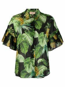 Twin-Set ruffled sleeve shirt - Green