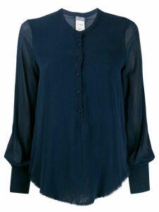 Kristensen Du Nord raw edge relaxed-fit shirt - Blue
