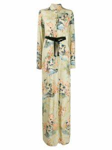 A.F.Vandevorst floral-print maxi shirt dress - Green