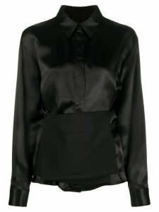 Mm6 Maison Margiela panel-detail shirt - Black