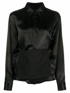 Mm6 Maison Margiela panel-detail shirt - Black
