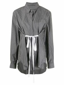 Mm6 Maison Margiela striped tie shirt - Black