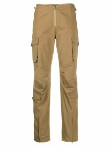 Frankie Morello top zip trousers - NEUTRALS