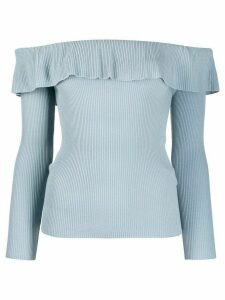 RedValentino off-the-shoulder ribbed jumper - Blue