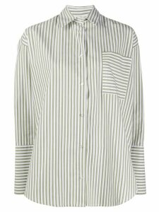 Danielapi oversized striped print shirt - Green