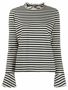 Danielapi striped-print crew neck top - Black