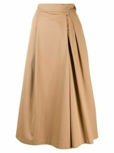 Barena side button a-line skirt - Brown
