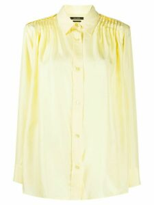 Isabel Marant pleated-shoulder shirt - Yellow