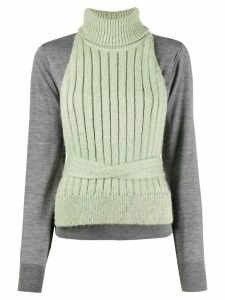 Mm6 Maison Margiela layered knitted jumper - Grey
