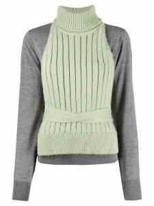 Mm6 Maison Margiela layered knitted jumper - Grey