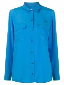 Equipment silk long sleeve shirt - Blue