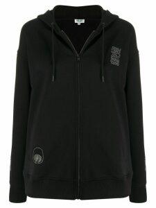 Kenzo sealife logo print hoodie - Black